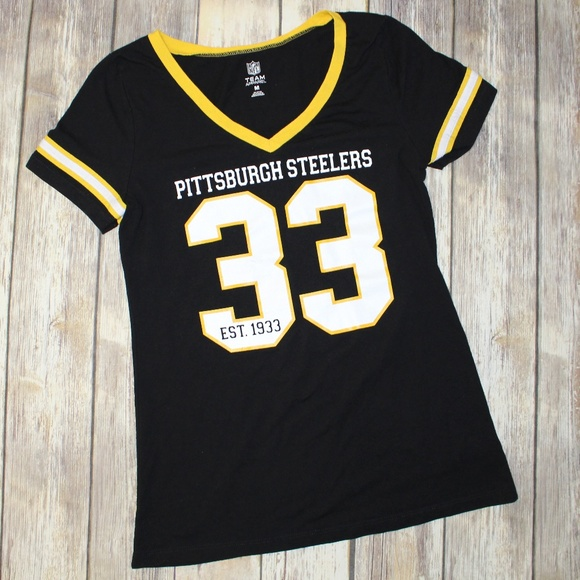 9e8ffce76 Pittsburgh Steelers 33 V Neck Tee Size Medium. M 5acd561b50687ca61e2e80a1